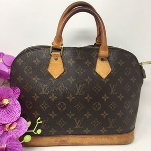 Preowned Authentic Louis Vuitton Alma Satchel Bag